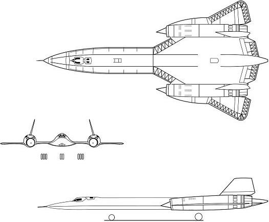 Three-view of SR-71A